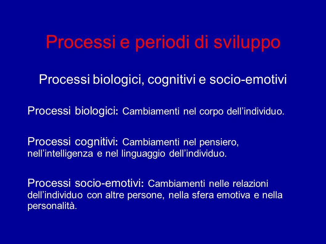 Processi e periodi di sviluppo