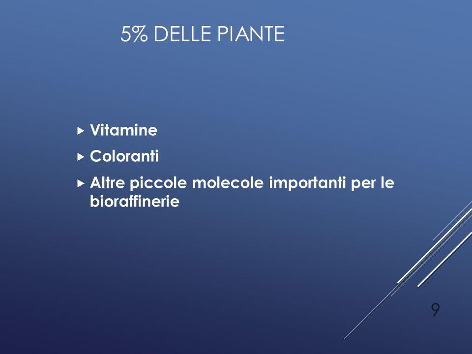 5% delle piante Vitamine Coloranti