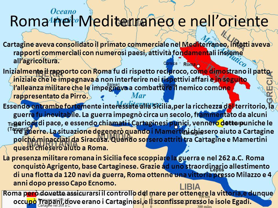 Roma nel Mediterraneo e nell'oriente