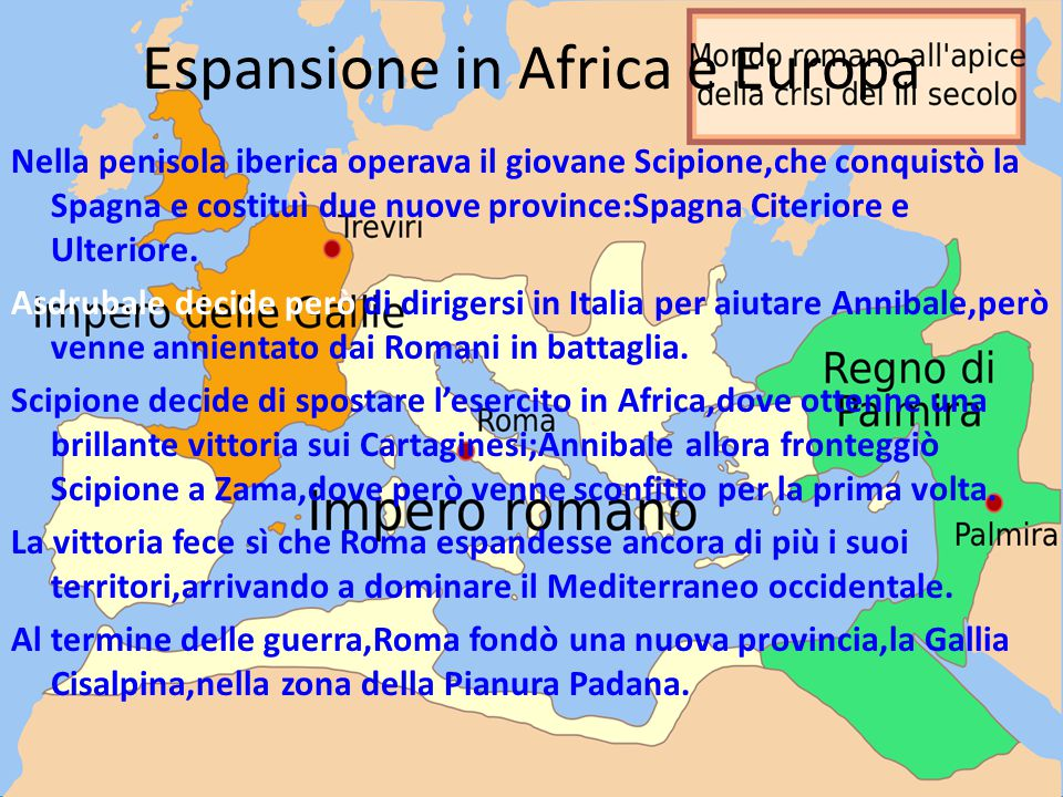 Espansione in Africa e Europa
