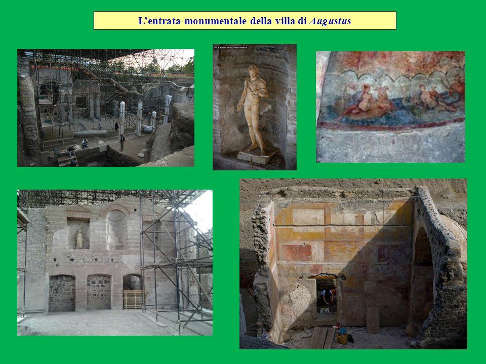 L'entrata monumentale della villa di Augustus