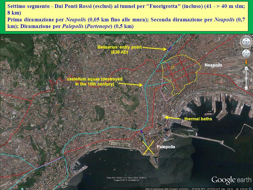 Settimo segmento - Dai Ponti Rossi (esclusi) al tunnel per Fuorigrotta (incluso) (41 - > 40 m slm; 8 km)