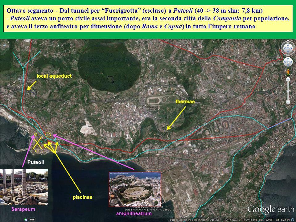 Ottavo segmento - Dal tunnel per Fuorigrotta (escluso) a Puteoli (40 -> 38 m slm; 7,8 km)