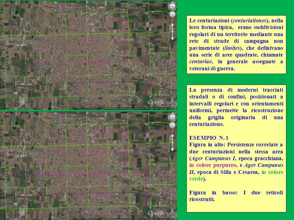 Le centuriazioni (centuriationes), nella loro forma tipica, erano suddivisioni regolari di un territorio mediante una rete di strade di campagna non pavimentate (limites), che definivano una serie di aree quadrate, chiamate centuriae, in generale assegnate a veterani di guerra.