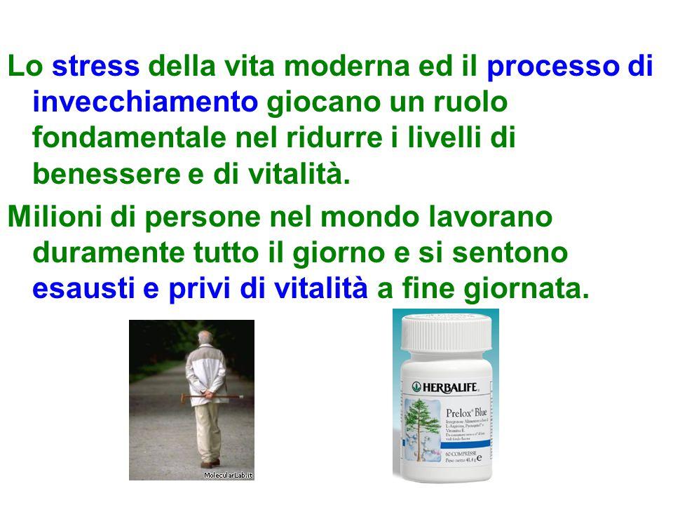 Lo stress della vita moderna ed il processo di invecchiamento giocano un ruolo fondamentale nel ridurre i livelli di benessere e di vitalità.