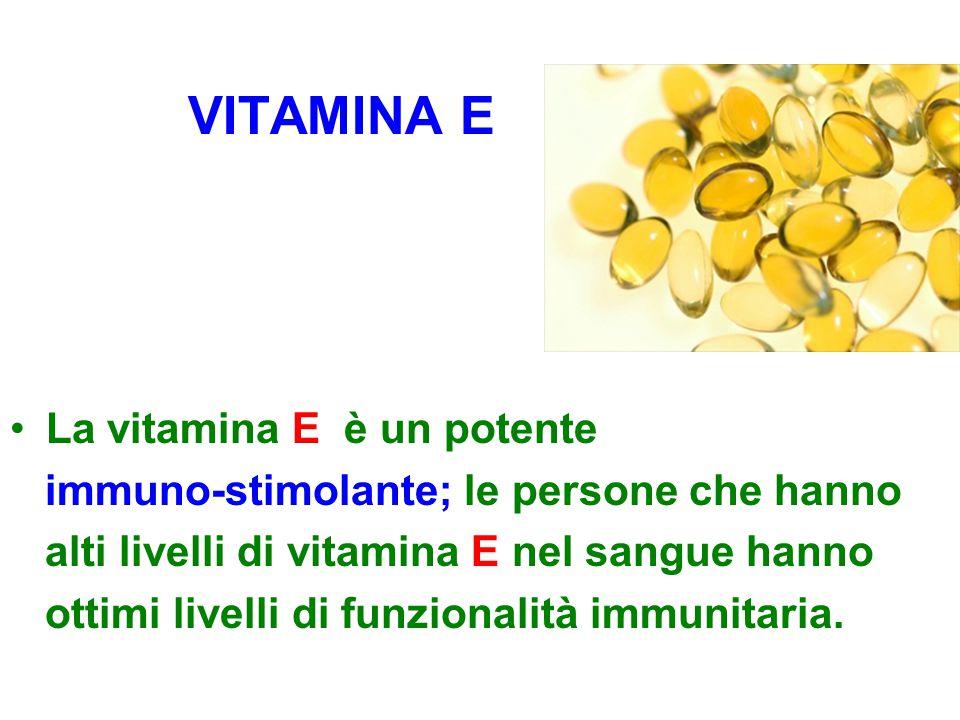 VITAMINA E La vitamina E è un potente