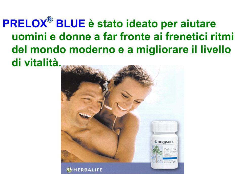 PRELOX BLUE è stato ideato per aiutare uomini e donne a far fronte ai frenetici ritmi del mondo moderno e a migliorare il livello di vitalità.