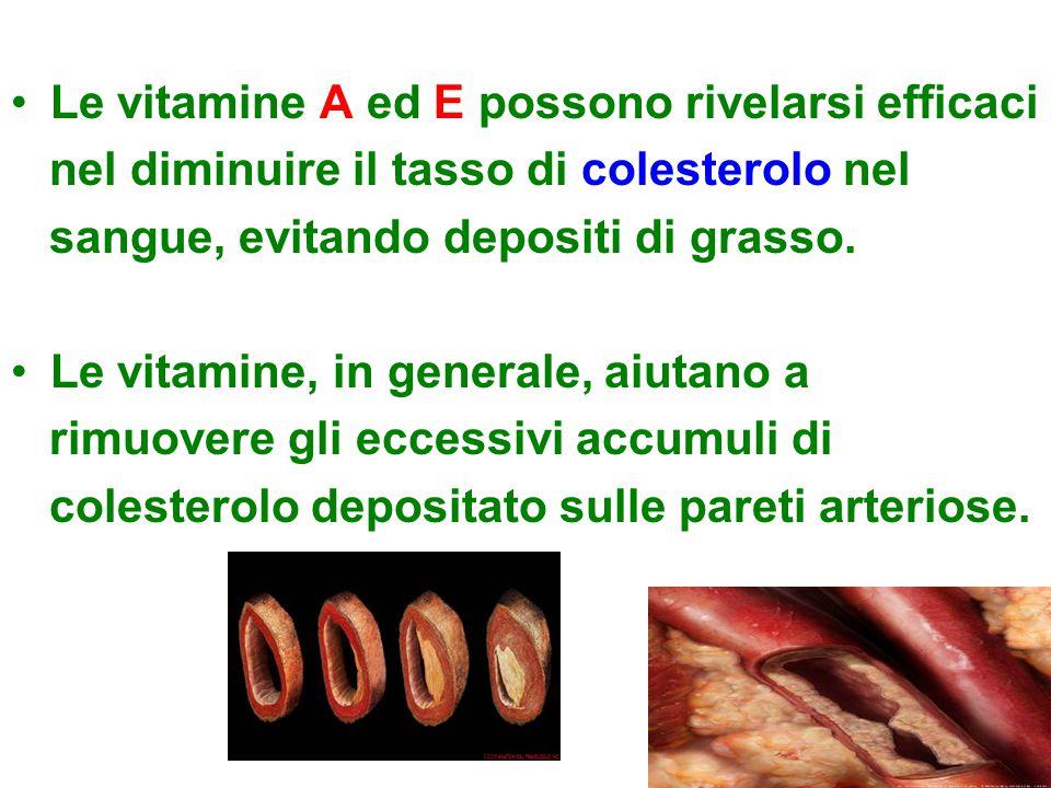 Le vitamine A ed E possono rivelarsi efficaci