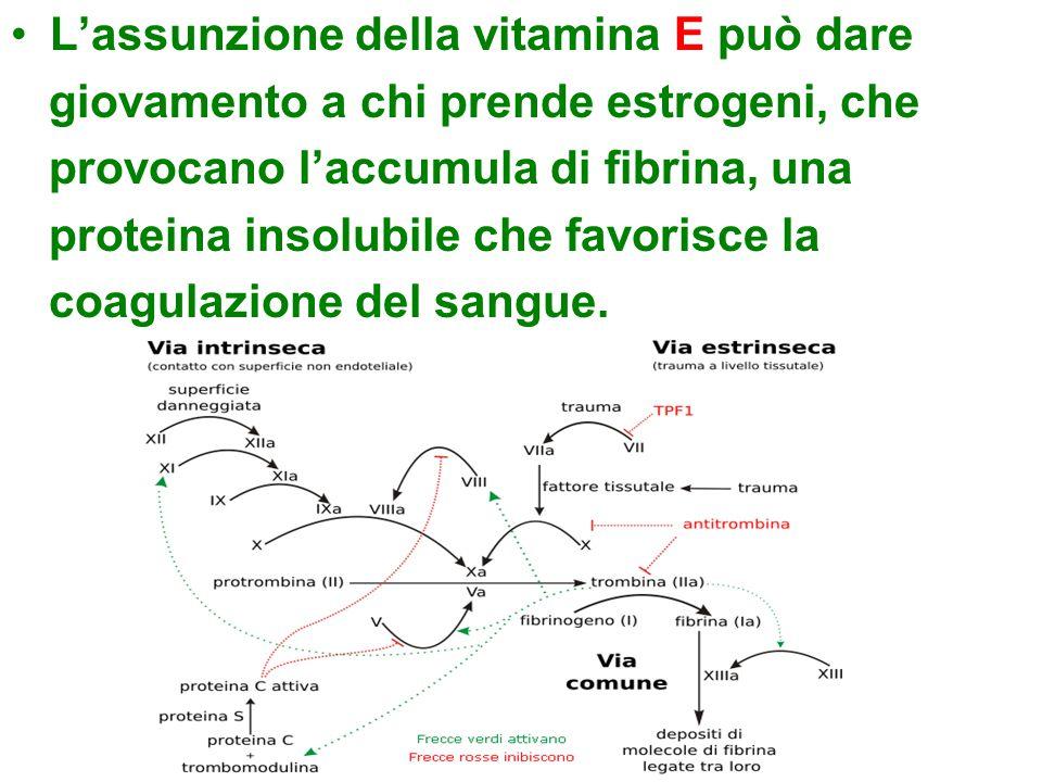 L'assunzione della vitamina E può dare