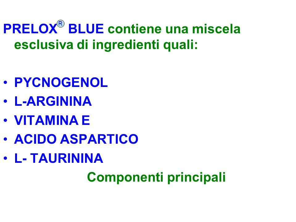 PRELOX BLUE contiene una miscela esclusiva di ingredienti quali: