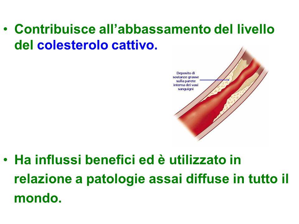 Contribuisce all'abbassamento del livello del colesterolo cattivo.