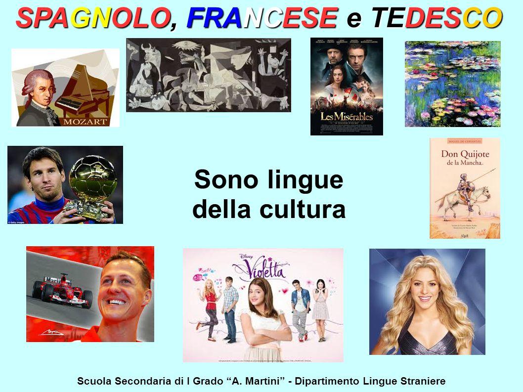 SPAGNOLO, FRANCESE e TEDESCO