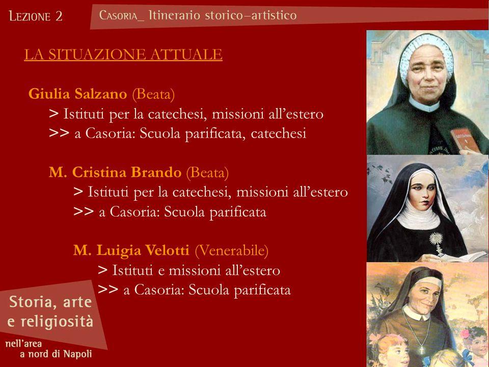 LA SITUAZIONE ATTUALE Giulia Salzano (Beata) > Istituti per la catechesi, missioni all'estero.