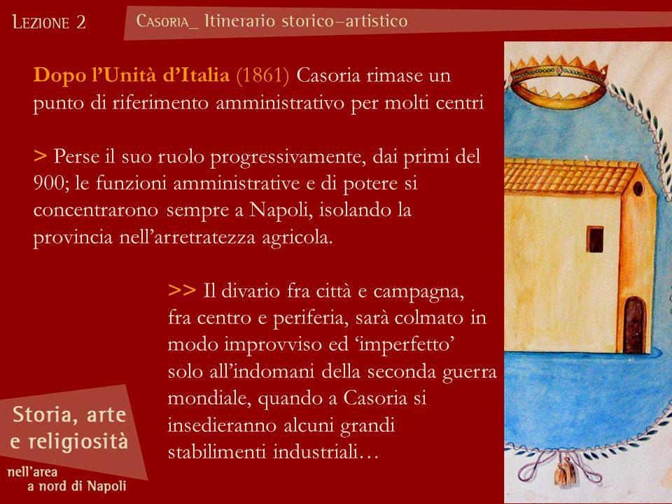 Dopo l'Unità d'Italia (1861) Casoria rimase un punto di riferimento amministrativo per molti centri