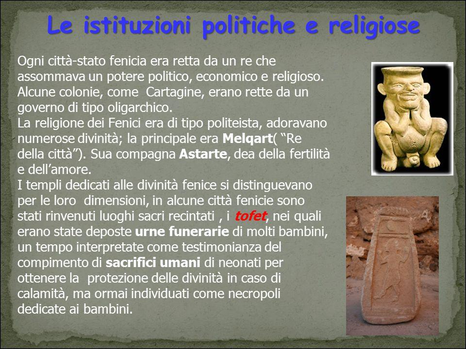 Le istituzioni politiche e religiose