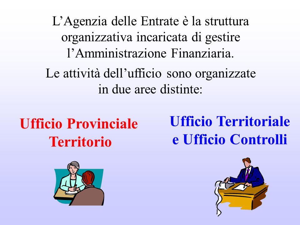 Ufficio Territoriale Ufficio Provinciale e Ufficio Controlli