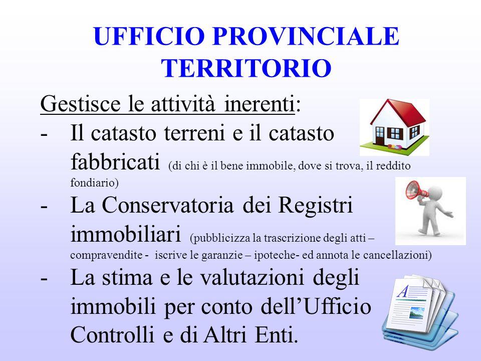 UFFICIO PROVINCIALE TERRITORIO