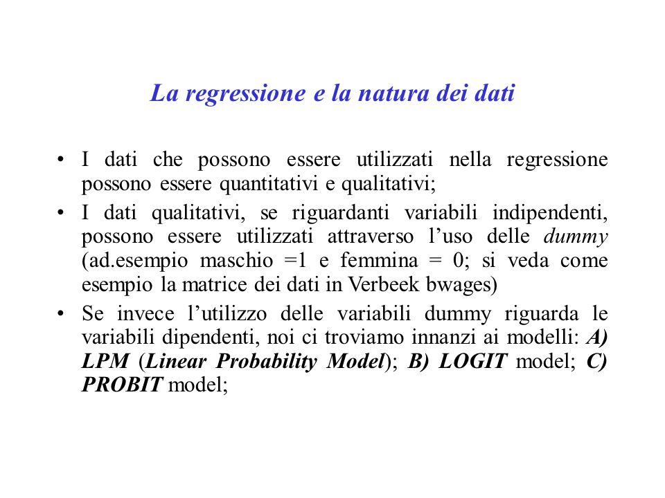 La regressione e la natura dei dati