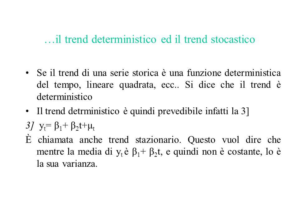 …il trend deterministico ed il trend stocastico