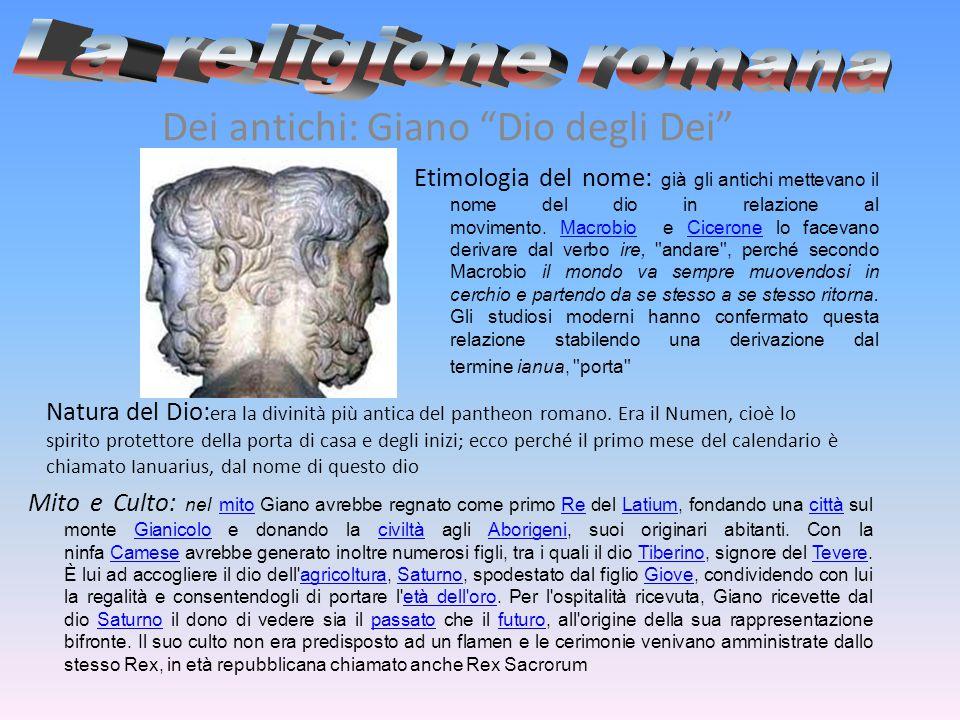 La religione romana Dei antichi: Giano Dio degli Dei