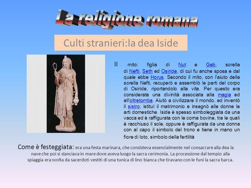 Culti stranieri:la dea Iside