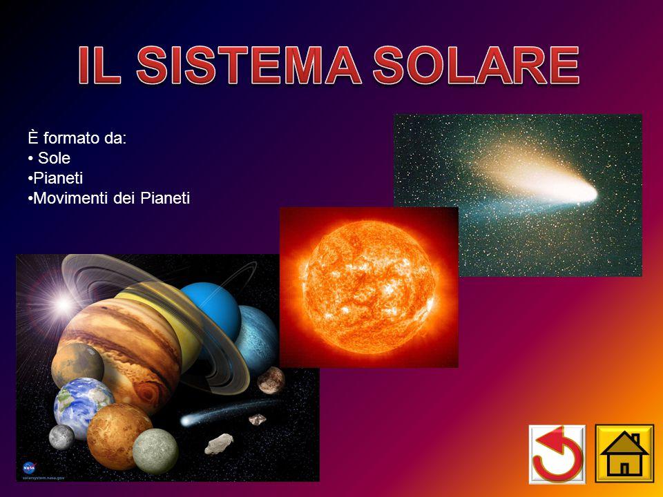 IL SISTEMA SOLARE È formato da: Sole Pianeti Movimenti dei Pianeti