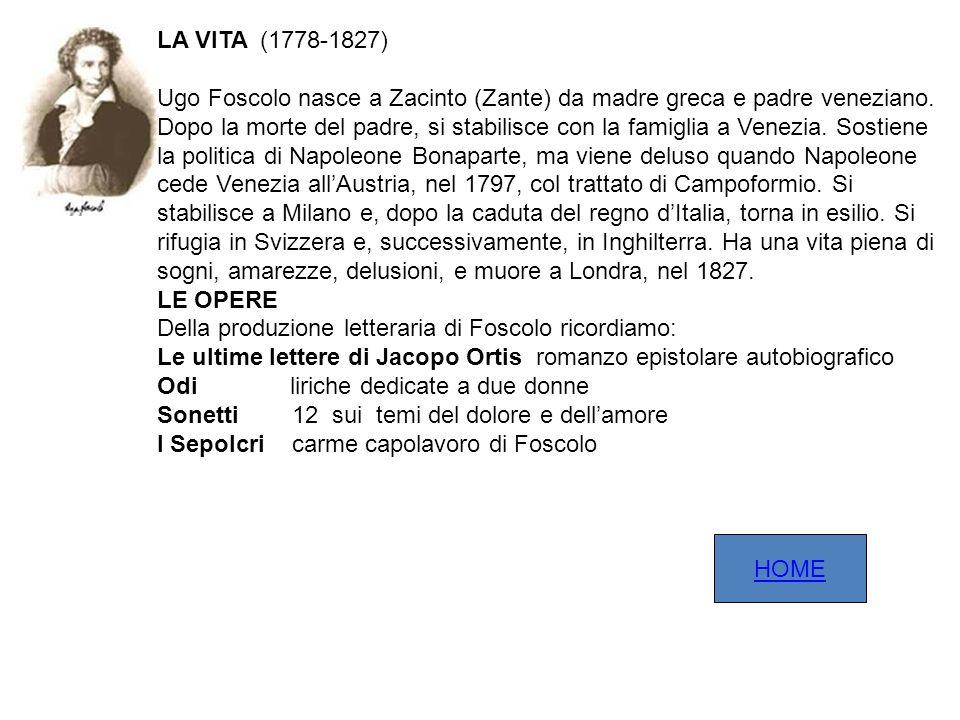 LA VITA (1778-1827)