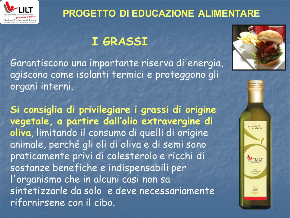 I GRASSI PROGETTO DI EDUCAZIONE ALIMENTARE