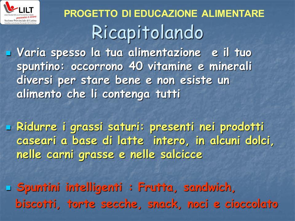 PROGETTO DI EDUCAZIONE ALIMENTARE