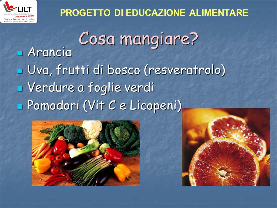 Cosa mangiare Arancia Uva, frutti di bosco (resveratrolo)