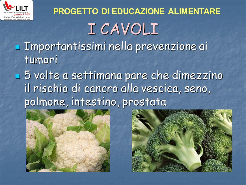I CAVOLI Importantissimi nella prevenzione ai tumori