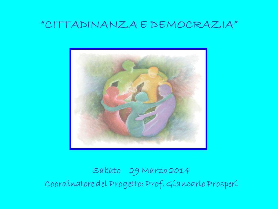 CITTADINANZA E DEMOCRAZIA