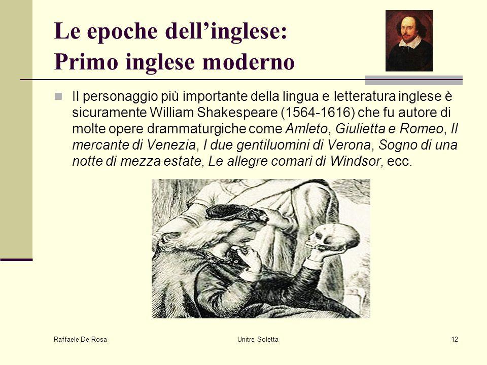 Le epoche dell'inglese: Primo inglese moderno
