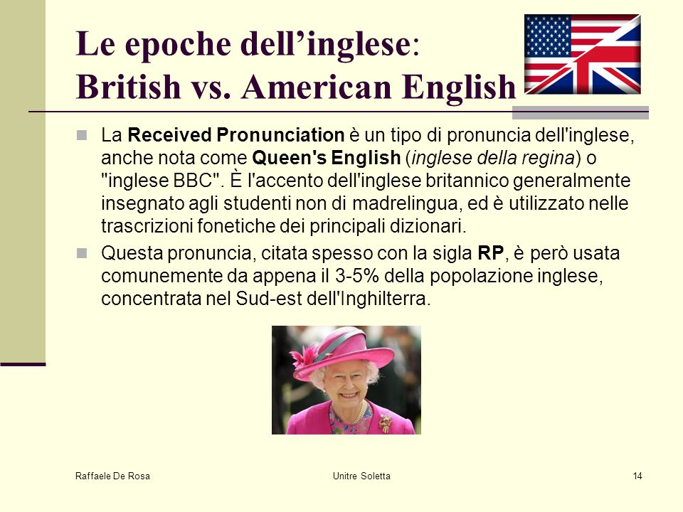 Le epoche dell'inglese: British vs. American English