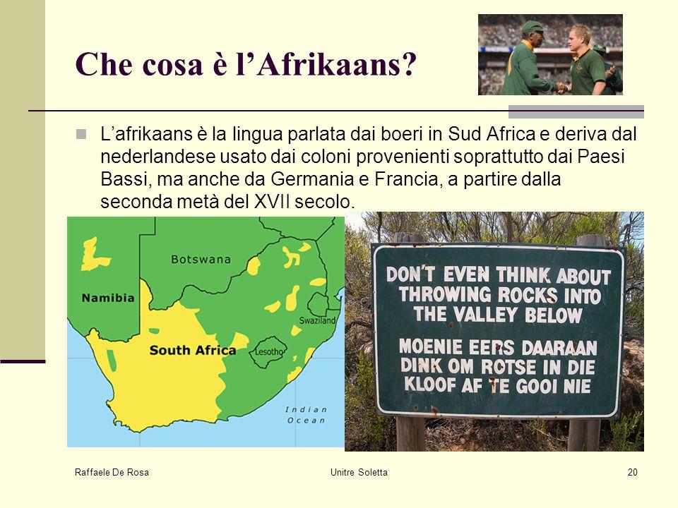 Che cosa è l'Afrikaans