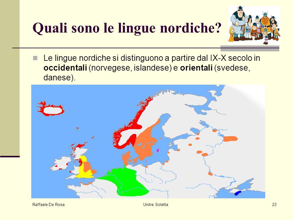 Quali sono le lingue nordiche
