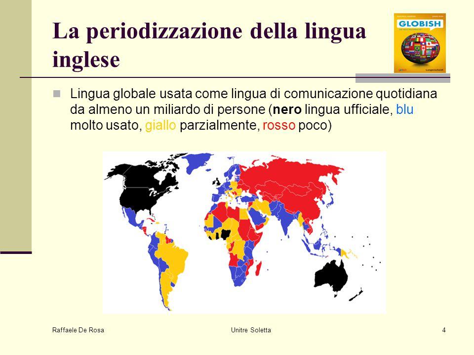 La periodizzazione della lingua inglese