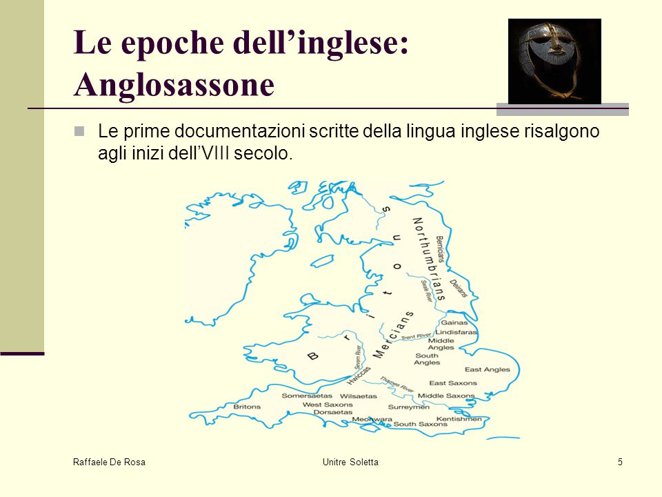 Le epoche dell'inglese: Anglosassone