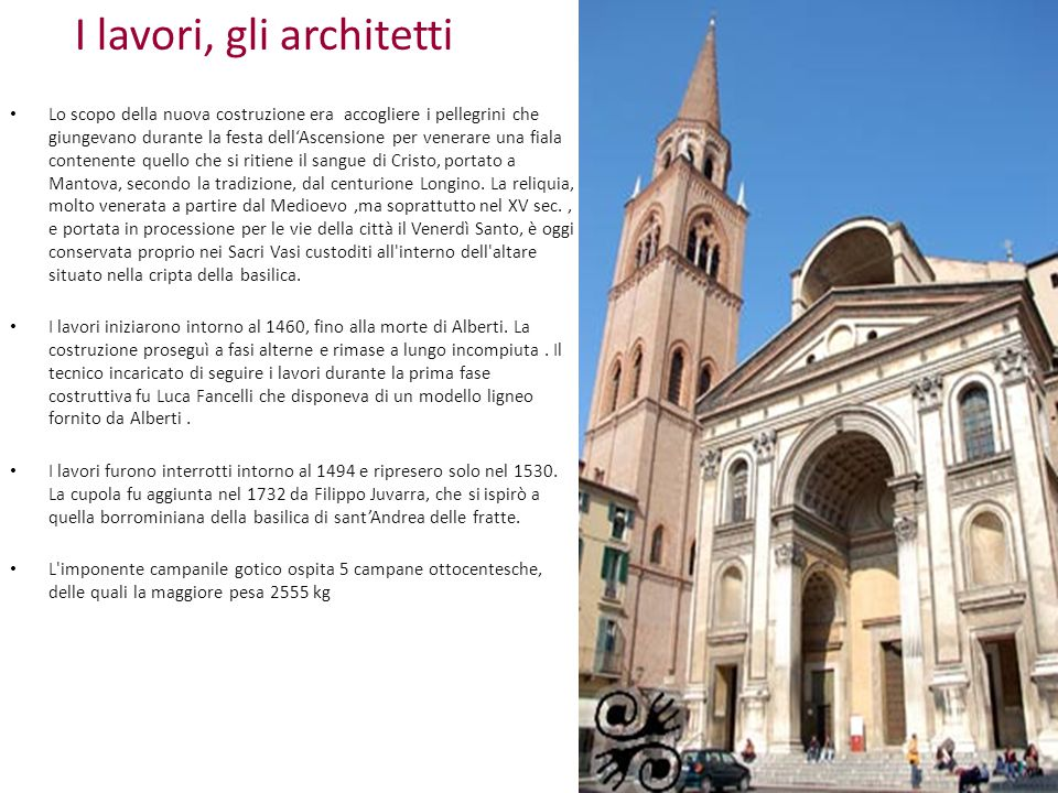 I lavori, gli architetti