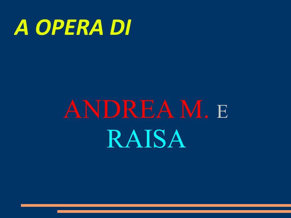 A OPERA DI ANDREA M. E RAISA 21