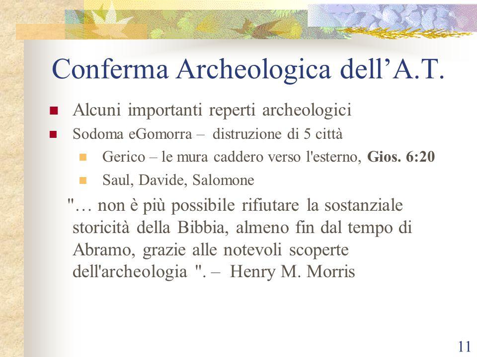 Conferma Archeologica dell'A.T.
