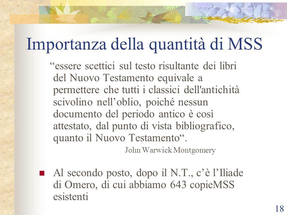 Importanza della quantità di MSS
