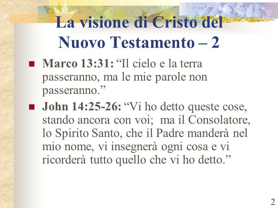 La visione di Cristo del Nuovo Testamento – 2