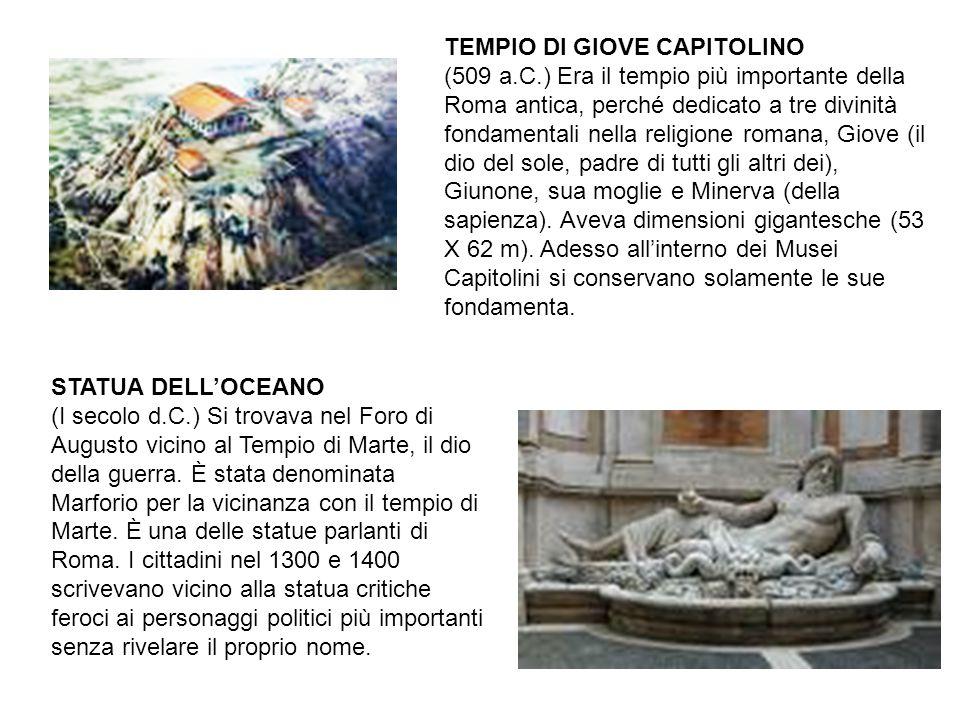 TEMPIO DI GIOVE CAPITOLINO (509 a. C