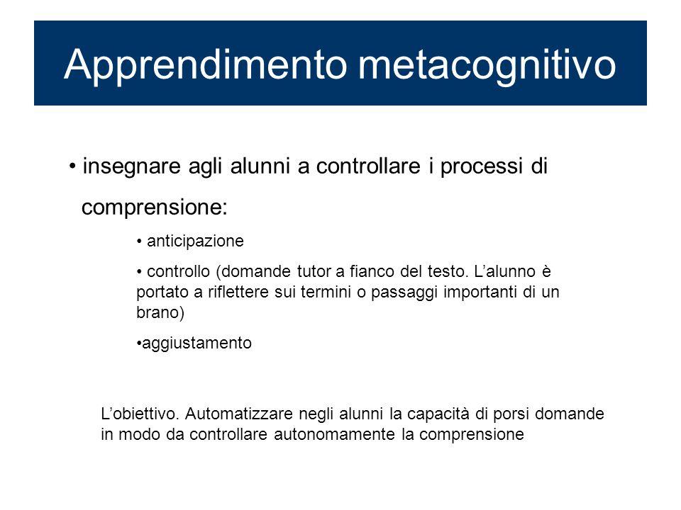 Apprendimento metacognitivo