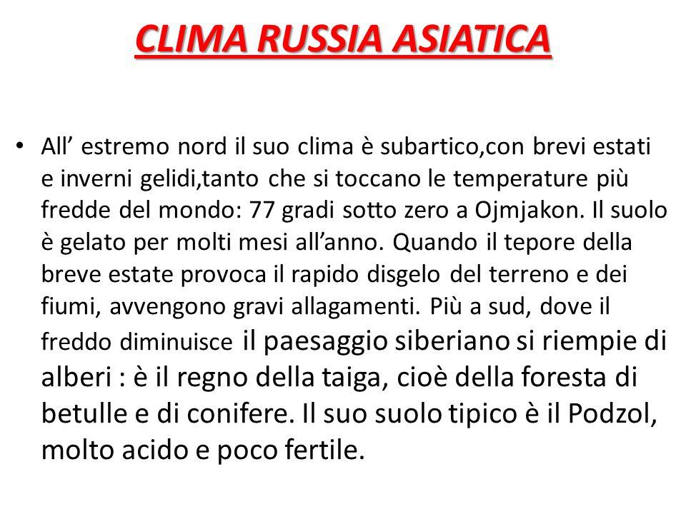 CLIMA RUSSIA ASIATICA