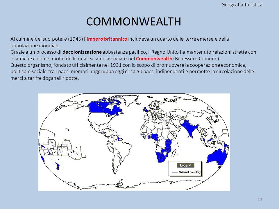 COMMONWEALTH Geografia Turistica