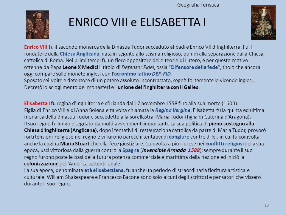 ENRICO VIII e ELISABETTA I