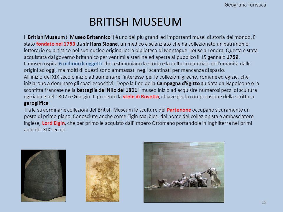 BRITISH MUSEUM Geografia Turistica