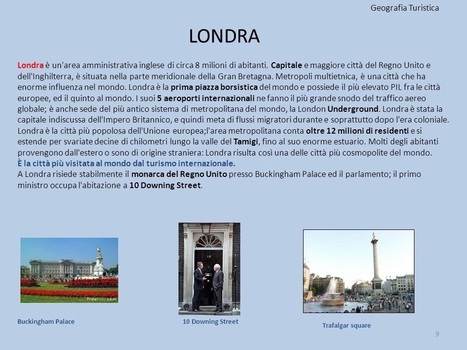 LONDRA Geografia Turistica